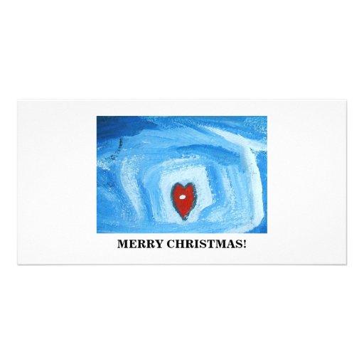 UN HEART/CHRISTMAS PHOTOCARTE