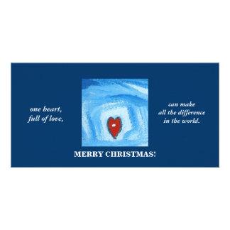 UN HEART CHRISTMAS CARTES AVEC PHOTO
