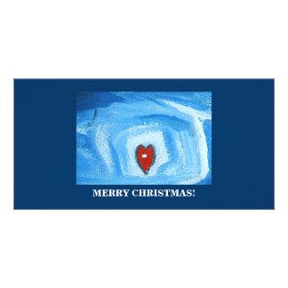 UN HEART/CHRISTMAS MODÈLE POUR PHOTOCARTE