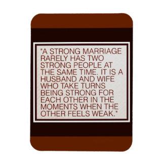 Un mariage fort magnets souples