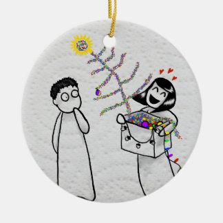Un ornement très de mauvais goût de Noël