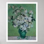 Un vase de roses, 1890 (huile sur la toile) poster