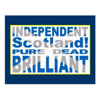 Unabhängiges Schottland rein, tot, glänzend Postkarte