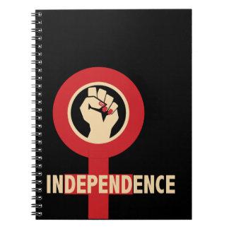 Unabhängigkeits-Frau-Notizbuch Spiral Notizblock