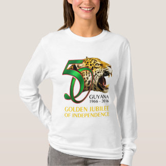 Unabhängigkeits-Kleid Guyanas 50. T-Shirt