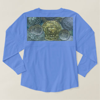 Unabhängigkeits-Münze 1960 des Geist-T - Shirt-W. Fan Trikot