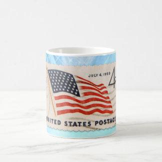 Unabhängigkeits-TagesVintage amerikanische Kaffeetasse