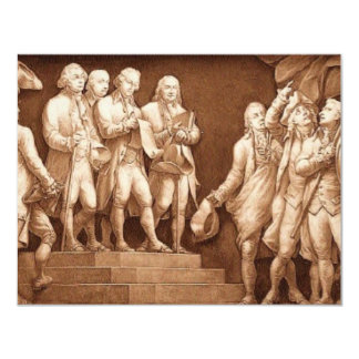 Unabhängigkeitserklärung 10,8 X 14 Cm Einladungskarte