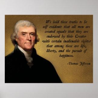 Unabhängigkeitserklärung Zitat Plakatdrucke
