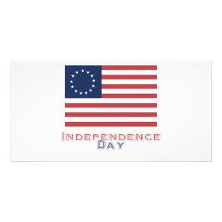 Unabhängigkeitstag Foto Karten Vorlage
