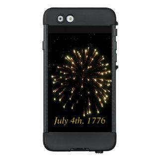 Unabhängigkeitstag-goldene Feuerwerks-Explosion LifeProof NÜÜD iPhone 6 Hülle