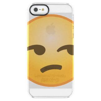 Unamused Emoji Durchsichtige iPhone SE/5/5s Hülle