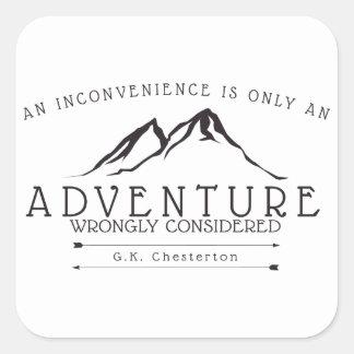 Unannehmlichkeiten Chesterton Zitat-Aufkleber Quadratischer Aufkleber
