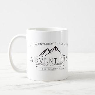 Unannehmlichkeiten Chesterton Zitat-Kaffee-Tasse Kaffeetasse