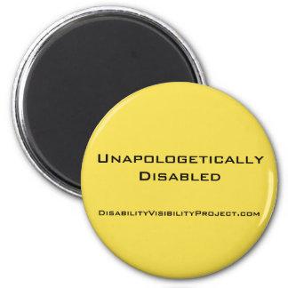"""""""Unapologetically mit Behinderung"""" gelber Knopf, 2 Runder Magnet 5,1 Cm"""