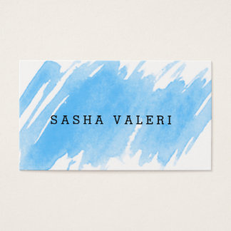 Unbedeutende blaue Aquarell-Visitenkarte Visitenkarte