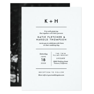 Unbedeutende Foto-Hochzeit 12,7 X 17,8 Cm Einladungskarte