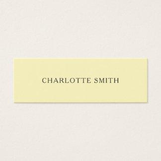 Unbedeutende gelbe moderne PastellVisitenkarten Mini Visitenkarte
