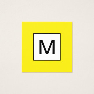 Unbedeutende gelbe Visitenkarte des mutigen