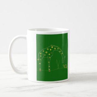Unbedeutende Giraffe - Grün Kaffeetasse