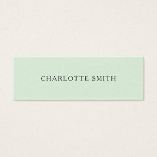 Unbedeutende grüne moderne PastellVisitenkarten Mini Visitenkarte