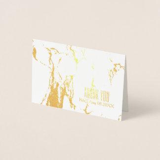 unbedeutende Hochzeits-weißer Marmor danken Ihnen Folienkarte
