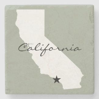 Unbedeutende Karten-Silhouette Kaliforniens Steinuntersetzer