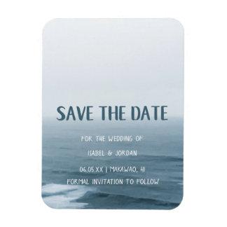 Unbedeutende Kunst bewegt Strand-Hochzeit Save the Magnet