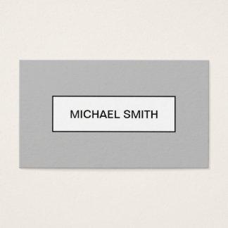 Unbedeutende moderne berufliche graue visitenkarte