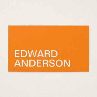 Unbedeutende orange moderne mutige Visitenkarte