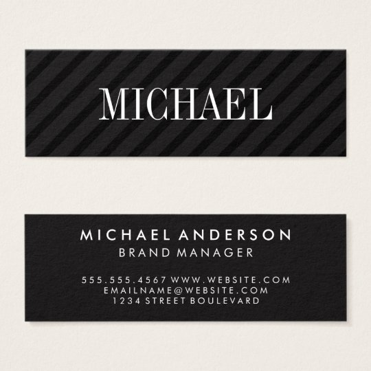 Unbedeutende schwarze Streifen mit Mini Visitenkarte