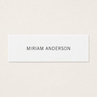 Unbedeutende Schwarzweiss-Visitenkarte Mini Visitenkarte