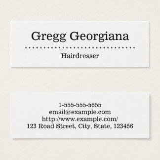 Unbedeutende und einfache Friseur-Visitenkarte Mini Visitenkarte