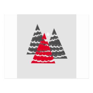 Unbedeutende Weihnachtsbäume Postkarte