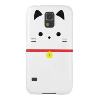 Unbedeutende weiße Katze mit Monogramm Hülle Fürs Galaxy S5