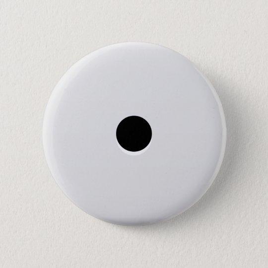 Unbedeutender abstrakter Single-Würfel-Zacken Runder Button 5,7 Cm