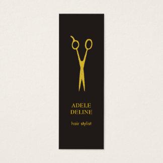 Unbedeutender eleganter grauer Goldhaar-Stylist Mini-Visitenkarten
