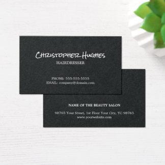 Unbedeutender eleganter Schwarz-weißer Friseur Visitenkarten
