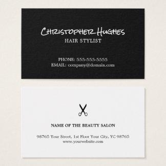 Unbedeutender eleganter Schwarzweiss-Friseur Visitenkarten