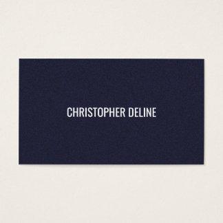 Unbedeutender eleganter strukturierter blauer visitenkarte