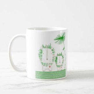 Unbedeutender Löwe - Grün Kaffeetasse
