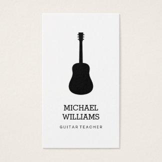 Unbedeutender Musiker-Akustikgitarre Visitenkarte