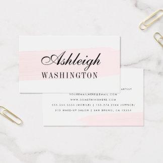 Unbedeutender rosa Aquarell-Bürsten-Anschlag Visitenkarte