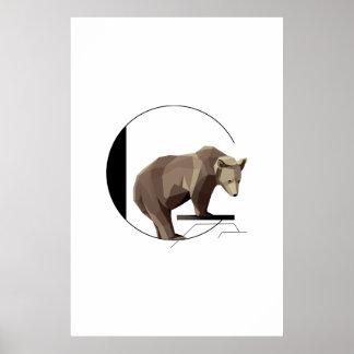 Unbedeutendes G-Grizzlybär-Plakat Poster