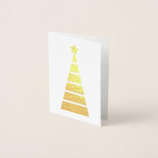 Unbedeutendes Gold verzierte Weihnachtsbaum Folienkarte