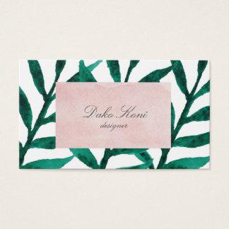 Unbedeutendes Grün-Blätter Visitenkarte