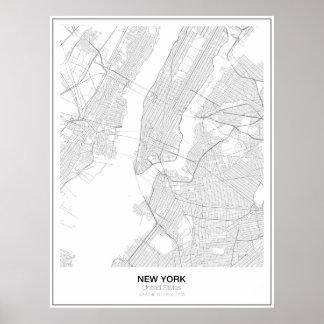 Unbedeutendes Karten-Plakat New York Poster