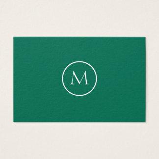 Unbedeutendes mit Monogramm elegantes Visitenkarte