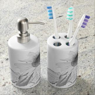 Unbedingtes Sonnenblume-Bad-Set Seifenspender & Zahnbürstenhalter
