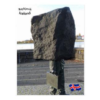 Unbekanntes Bürokratdenkmal, Reykjavik, Island Postkarte